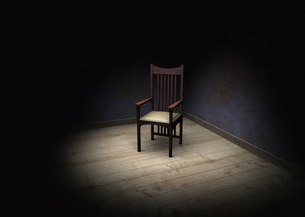chair in the interrogation roomの写真素材 [FYI00862553]
