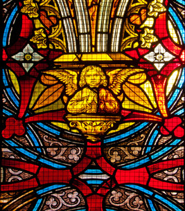church window with angelの素材 [FYI00862610]