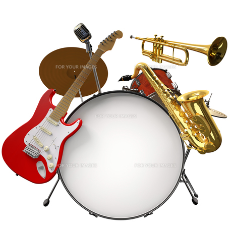 music_instrumentsの写真素材 [FYI00863531]