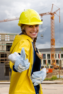 girl power in the constructionの写真素材 [FYI00863832]