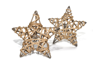 two braided star as christmas decorationの素材 [FYI00864434]