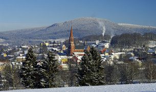 winter in the bavarian forest - zwiesel-falkensteinの写真素材 [FYI00864832]