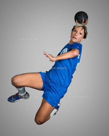 handball in the jump shotの写真素材 [FYI00866012]