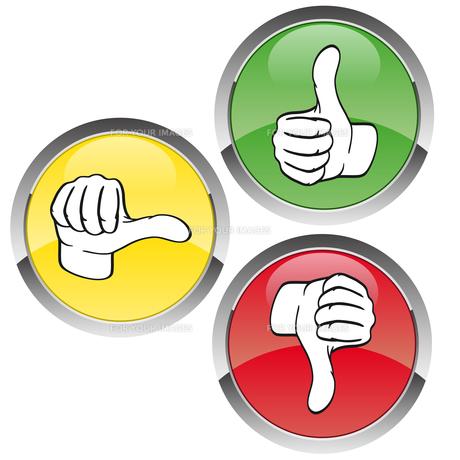 vote traffic light red-yellow-greenの写真素材 [FYI00866431]
