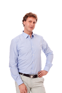 adult man in elegant leisure business clothing with hatの写真素材 [FYI00866625]