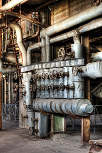 hdr old industrial plantの写真素材 [FYI00866712]