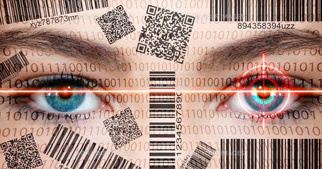 privacy - barcode facebookの写真素材 [FYI00866757]
