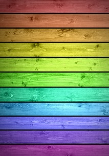 colorful horizontal wooden beams in many colorsの写真素材 [FYI00867120]