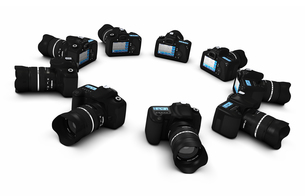 dslr concept - digital slr cameras in district 5の写真素材 [FYI00867294]
