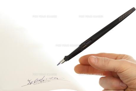 signatureの写真素材 [FYI00867530]