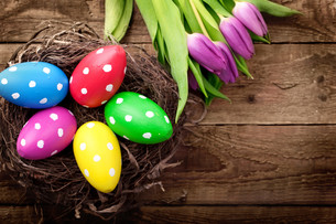 colorful easterの写真素材 [FYI00867619]