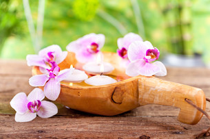 wellness us spa concept with orchidsの写真素材 [FYI00868106]