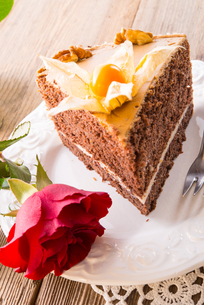 cake with rosesの写真素材 [FYI00868153]