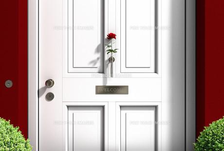 white house doorの写真素材 [FYI00868303]
