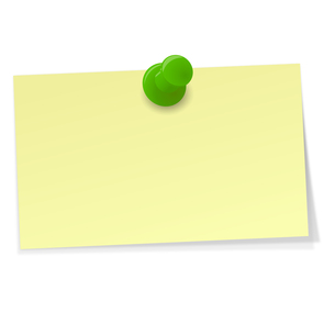 small sticky note with pinの写真素材 [FYI00868432]