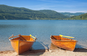 the popular titisee in the black forestの写真素材 [FYI00869209]