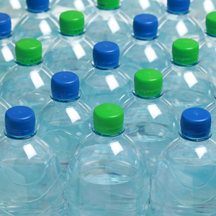 mineral water in plastic bottlesの写真素材 [FYI00869325]