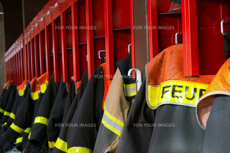 protective clothing of german firefightersの素材 [FYI00869328]