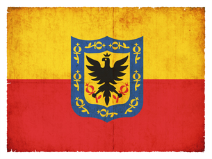 grunge flag bogota (colombia)の写真素材 [FYI00869698]