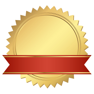 gold certificate with a red bannerの写真素材 [FYI00870623]