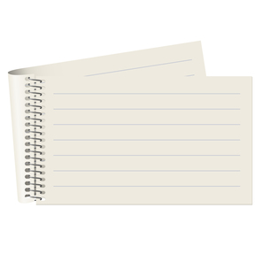 empty lined paper blockの写真素材 [FYI00870690]