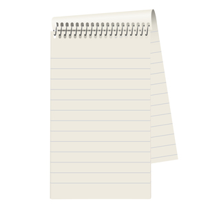 empty lined paper blockの写真素材 [FYI00870830]