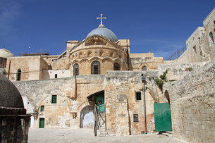 holy sepulcher in jerusalem. israelの写真素材 [FYI00871300]