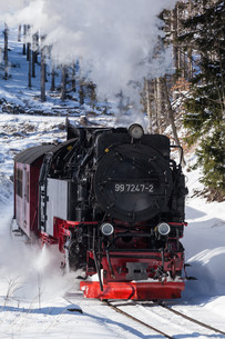 harz narrow gauge railways selketalbahn in winterの素材 [FYI00872823]