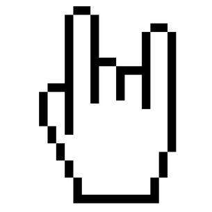 pixelgrafik hand - rockの写真素材 [FYI00872977]