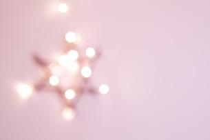 poinsettia fuzzy pink decorationの写真素材 [FYI00874538]