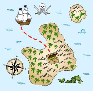 treasure mapの写真素材 [FYI00874723]