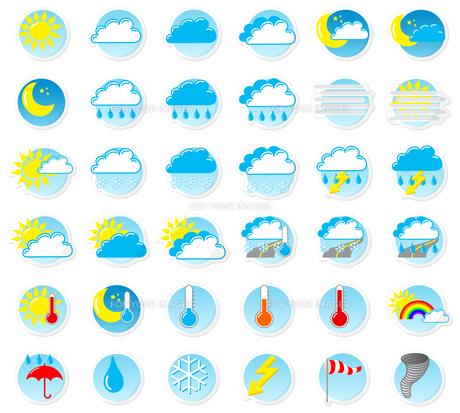 weather symbolsの写真素材 [FYI00874727]