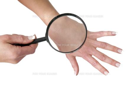 examine skinの写真素材 [FYI00874916]
