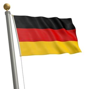 flag of germanyの写真素材 [FYI00875372]