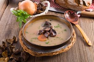 stone mushroom soupの写真素材 [FYI00875652]
