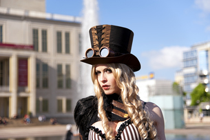 wave gothic meeting leipzig 2013 - outfitの写真素材 [FYI00875769]