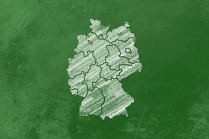 germany on a blackboardの写真素材 [FYI00876767]