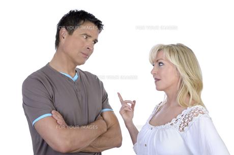 mature couple at arguingの写真素材 [FYI00876901]