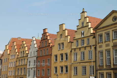 gabled houses in osnabr?ckの素材 [FYI00877097]