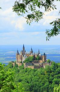 hohenzollern castle,swabian alb,germanyの写真素材 [FYI00877391]