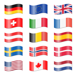 set countries swung flagsの写真素材 [FYI00877490]