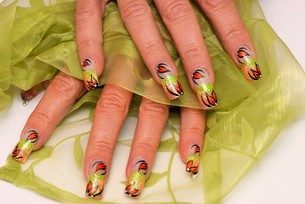 beauty nailの写真素材 [FYI00877506]