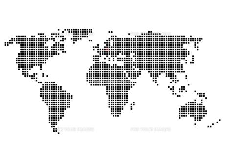 pixel world map with marking of berlinの写真素材 [FYI00877931]