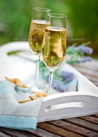 summery champagne breakfastの素材 [FYI00878341]