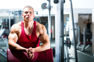 bodybuilders or trainer at the gymの写真素材 [FYI00878553]