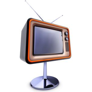 retro tvの写真素材 [FYI00878692]