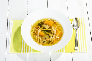 fritatten soupの写真素材 [FYI00878825]