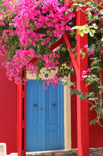 picturesque village idyll in greeceの写真素材 [FYI00879254]