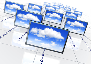 cloud networkの写真素材 [FYI00879588]