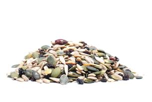 pumpkin seeds,sunflower seedsの写真素材 [FYI00879867]